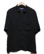 JUNYA WATANABE COMME des GARCONS MAN(ジュンヤワタナベ コムデギャルソン マン)の古着「ジップアップ半袖シャツ」|ブラック