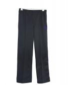 Needles(ニードルス)の古着「サイドラインセンターシームパンツ」|ブラック×パープル