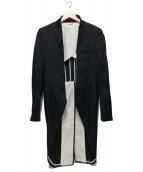 COMME des GARCONS HommePlus(コムデギャルソンオムプリュス)の古着「ブロークンモーニングジャケット」|ブラック