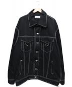 AMBUSH(アンブッシュ)の古着「オーバサイズドデニムジャケット」 ブラック