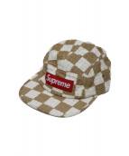 SUPREME(シュプリーム)の古着「チェッカーボードキャンプキャップ」|ベージュ