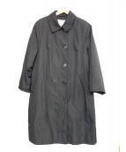 HERNO(ヘルノ)の古着「シルクステンカラーコート」|ブラック