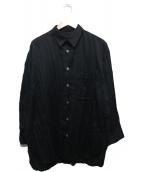 ISSEY MIYAKE(イッセイミヤケ)の古着「プリーツシャツ」|ブラック