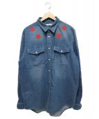 GIVENCHY(ジバンシー)の古着「スターパッチデニムシャツ」 インディゴ