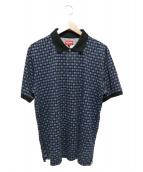 Supreme(シュプリーム)の古着「フラールポロシャツ」 ネイビー