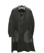 YohjiYamamoto pour homme(ヨウジヤマモト プールオム)の古着「リネン混ロングコート」 グレー