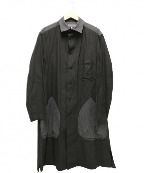 YohjiYamamoto pour homme(ヨウジヤマモトプールオム)YohjiYamamoto pour homme (ヨウジヤマモト プールオム) リネン混ロングコート グレー サイズ:2 未使用品 HW-B07-801 2018SSの古着・服飾アイテム