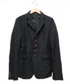 BLACK COMME des GARCONS(ブラックコムデギャルソン)の古着「ポリ縮絨ジャケット」 ブラック