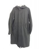 ARTS&SCIENCE(アーツアンドサイエンス)の古着「コットンフーデッドコート」|ブラック