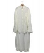 CELINE(セリーヌ)の古着「燕尾レーヨンシャツ」 アイボリー