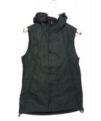 ripvanwinkle(リップヴァンウィンクル)の古着「パフフーデットベスト」|ブラック