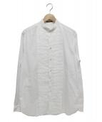 LOUIS VUITTON(ルイ・ヴィトン)の古着「プリーツバンドカラーシャツ」|ホワイト