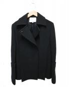 3.1 phillip lim(スリーワン・フィリップ・リム)の古着「ウールPコート」|ブラック