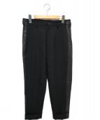 B Yohji Yamamoto(ビー ヨウジヤマモト)の古着「ウールギャバスラックス」|ブラック