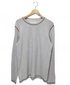 Maison Margiela10(メゾンマルジェラ10)の古着「ボーダーカットソー」|ホワイト