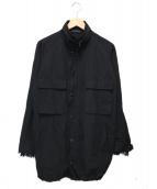 Y's(ワイズ)の古着「レーススリーブミリタリージャケット」|ブラック