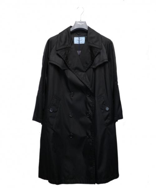 PRADA(プラダ)PRADA (プラダ) トレンチコート ブラック サイズ:36S 未使用品 291494 19SS RAINCOATS & TRENCHの古着・服飾アイテム