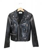 Saint Laurent Paris(サンローランパリ)の古着「レザーライダースジャケット」|ブラック