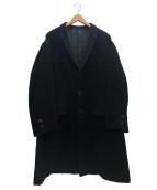 YS for men(ワイズフォーメン)の古着「ロングコート」 ブラック