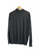 LORO PIANA(ロロピアーナ)の古着「ニットポロシャツ」|ブラウン