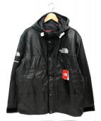 SUPREME × THE NORTH FACE(シュプリーム × ザ・ノース・フェイス)の古着「レザーマウンテンジャケット」|ブラック