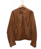 Maison Margiela(メゾンマルジェラ)の古着「八の字レザージャケット」|ブラウン