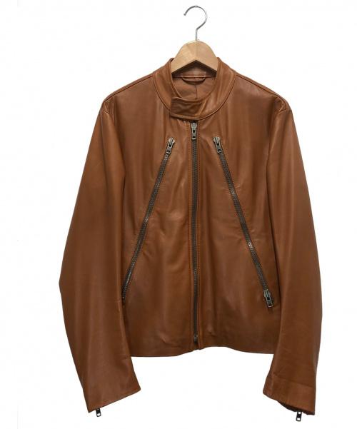 Maison Margiela(メゾンマルジェラ)Maison Margiela (メゾンマルジェラ) 八の字レザージャケット ブラウン サイズ:44 2007SS ここのえタグ 28 AM006の古着・服飾アイテム