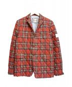 MONCLER GAMME BLEU(モンクレールガムブルー)の古着「キルティングテーラードジャケット」|レッド