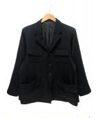 Y's(ワイズ)の古着「ウールギャバジャケット」|ブラック