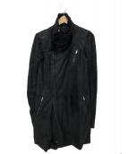 RICK OWENS(リックオウエンス)の古着「ニット切替ジャケット」|ブラック