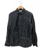 JUNYA WATANABE COMME des GARCONS MAN(ジュンヤワタナベ コムデギャルソン マン)の古着「切替シャツ」|インディゴ