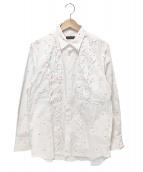 COMME des GARCONS HommePlus(コムデギャルソンオムプリュス)の古着「フリルドットシャツ」 ホワイト