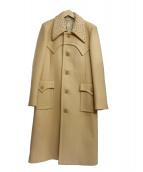 J.W. ANDERSON(ジェイダブルアンダーソン)の古着「スタッズシングルメルトンコート」|ベージュ