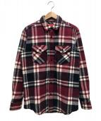 Supreme(シュプリーム)の古着「ヘビーウエイトフランネルシャツ」|グリーン