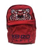 KENZO(ケンゾー)の古着「ラージタイガーキャンバスバックパック」|レッド