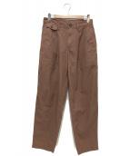 ISSEY MIYAKE MEN(イッセイミヤケメン)の古着「タックパンツ」|ブラウン