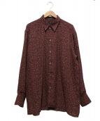 Jean Paul GAULTIER HOMME(ジャンポールゴルチエオム)の古着「総柄シャツ」|ボルドー
