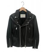 UNDERCOVER(アンダーカバー)の古着「ラムレザーライダースジャケット」|ブラック