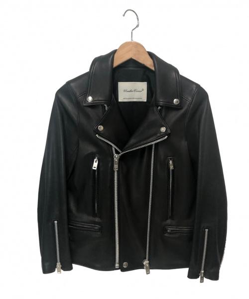 UNDERCOVER(アンダーカバー)UNDERCOVER (アンダーカバー) ラムレザーライダースジャケット ブラック サイズ:1 UCU8201の古着・服飾アイテム