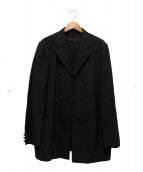 COMME des GARCONS HOMME(コムデギャルソンオム)の古着「リネン混ジャケット」 ブラック