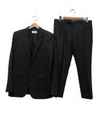 Saint Laurent Paris(サンローランパリ)の古着「ストライプセットアップスーツ」|ブラック