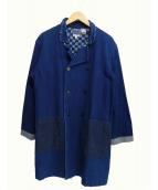 BLUE BLUE(ブルーブル)の古着「ホンアイカワリオリスティルヤングアワセコート」 インディゴ