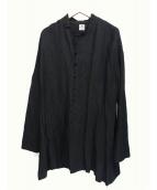 SASQUATCHfabrix.(ザスクワッチファブリックス)の古着「チャイナシャツ」 ブラック