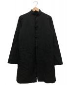 BLACK COMME des GARCONS(ブラックコムデギャルソン)の古着「ポリ縮チャイナジャケット」|ブラック