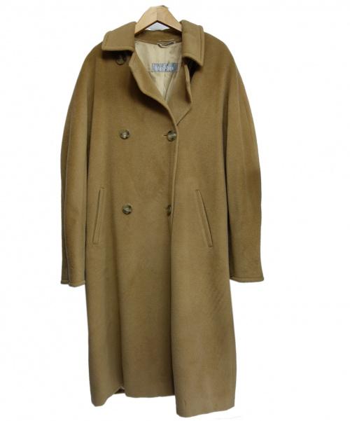 MaxMara(マックスマーラ)MaxMara (マックスマーラ) メルトンコート ベージュ サイズ:42の古着・服飾アイテム