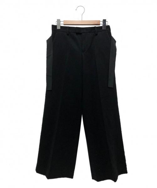 SueUNDERCOVER(スーアンダーカバー)SueUNDERCOVER (スーアンダーカバー) ブラックウールトラウザー ブラック サイズ:1 SUX1502-2 Black Wool Trousersの古着・服飾アイテム