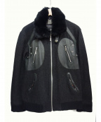BURBERRY BLACK LABEL()の古着「レザー切替ファーブルゾン」|ブラック