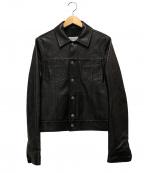 Maison Margiela10(メゾンマルジェラ10)の古着「ラムレザートラッカージャケット」|ブラック