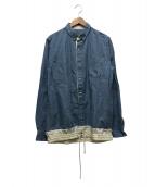 sacai(サカイ)の古着「異素材ミックスシャツ」|スカイブルー