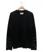 Maison Margiela 10(メゾン マルジェラ 10)の古着「デザインスリーブクルーネックニット」|ブラック